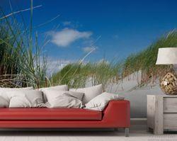 Vliestapete Düne am Strand unter blauem Himmel – Bild 2