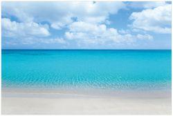 Vliestapete Sandstrand und blaues Meer – Bild 1