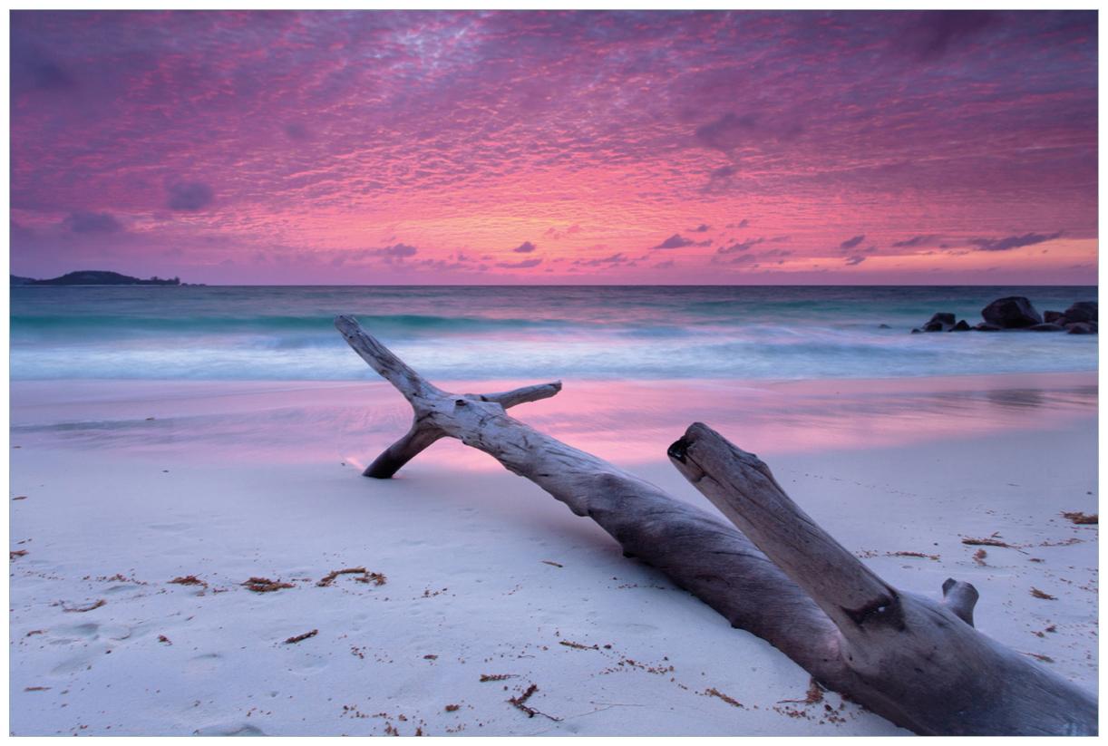 Vliestapete Abendhimmel bei Sonnenuntergang – Bild 1
