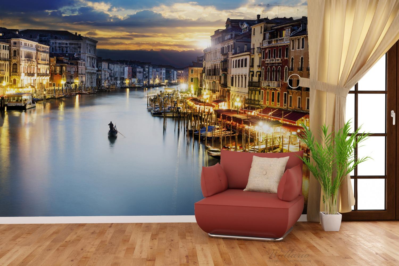 Vliestapete Canal Grande in Venedig am Abend mit untergehender Sonne – Bild 4