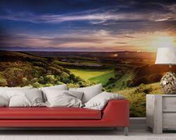 Vliestapete Farbenfroher Sonnenuntergang in England – Bild 2