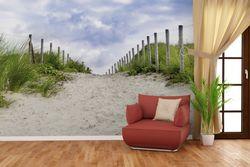 Vliestapete Auf dem Weg zum Strand durch Dünen – Bild 4