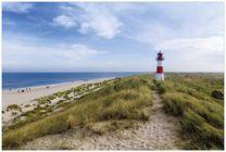 Vliestapete Am Strand von Sylt  Leuchtturm auf der Düne  Panorama 001