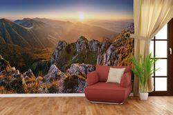 Vliestapete Berglandschaft mit Sonnenuntergang in der Slowakei – Bild 4