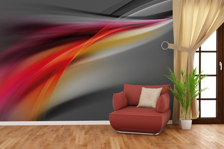 Vliestapete Schwarz rot pink - Abstraktes Design – Bild 4