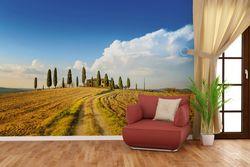 Vliestapete Italien - Toskana unter blauem Himmel  einsame Farm – Bild 4