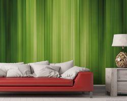 Vliestapete Grün und schwarz gestreift - Abstraktes Streifenmuster – Bild 2