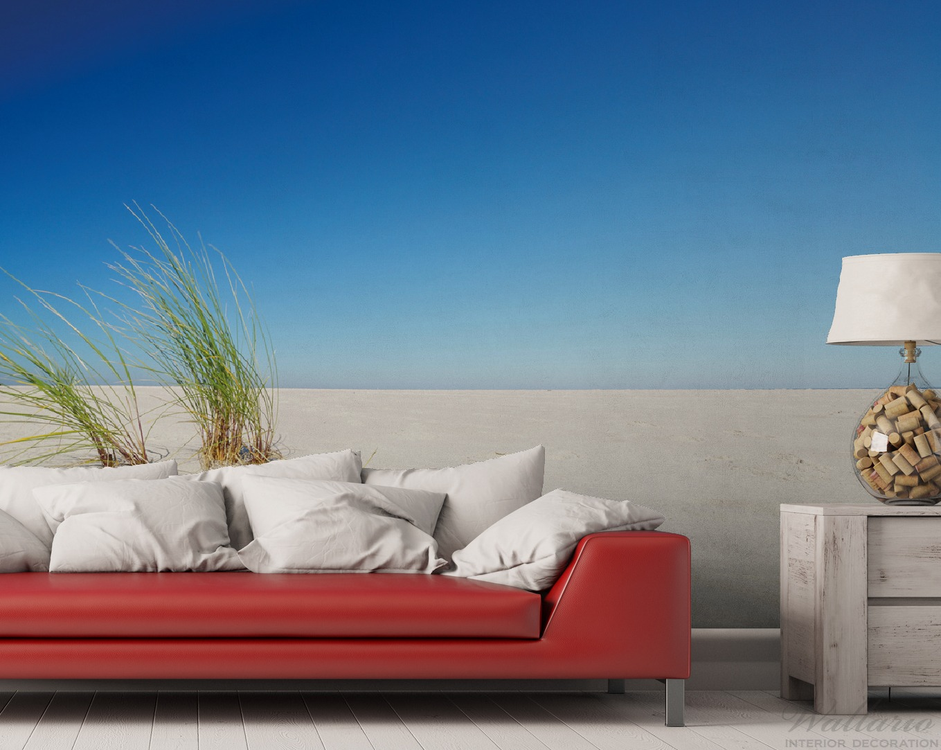 Vliestapete Sandstrand unter blauem Himmel – Bild 2