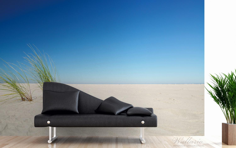 Vliestapete Sandstrand unter blauem Himmel – Bild 3