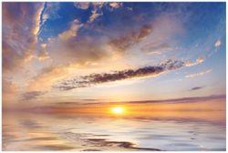 Vliestapete Sonnenuntergang über dem Wasser – Bild 1
