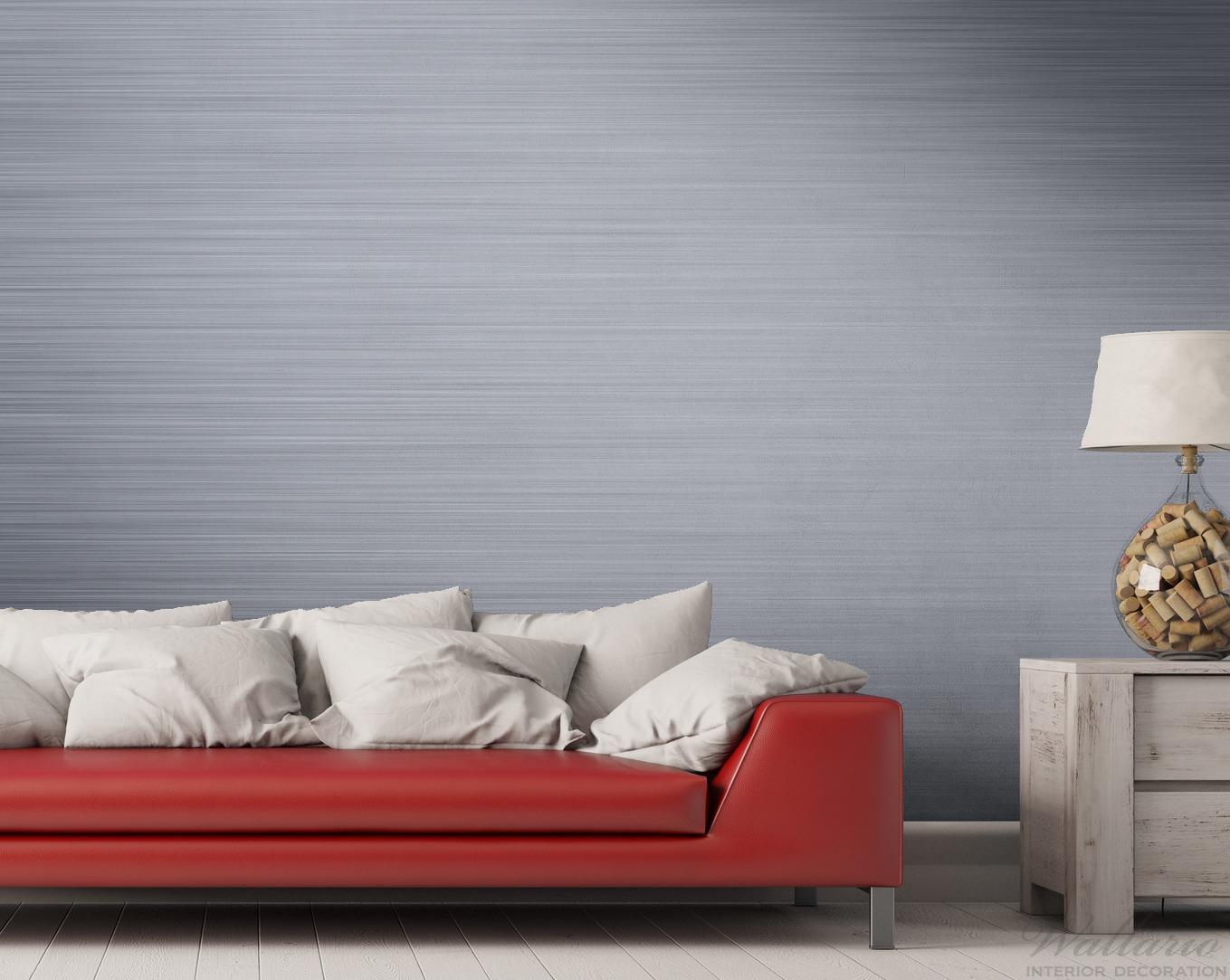 Vliestapete Aluminium-Optik Metall-Optik Streifen – Bild 2