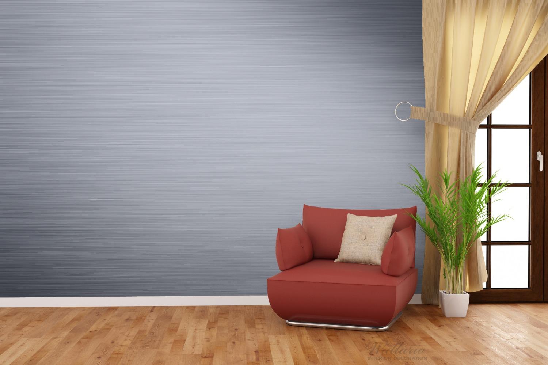 Vliestapete Aluminium-Optik Metall-Optik Streifen – Bild 4