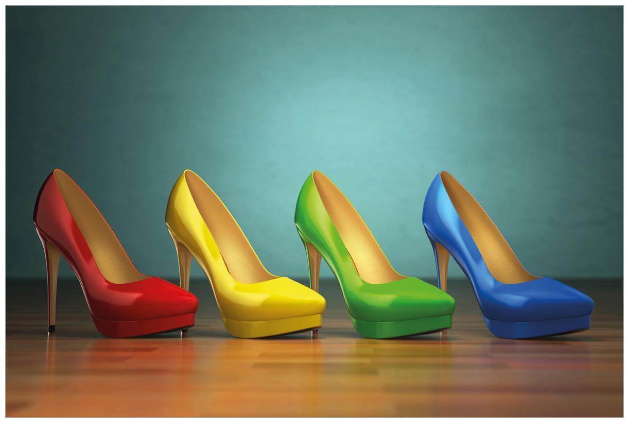 Vliestapete Bunte Schuhe - High Heels für Frauen – Bild 1