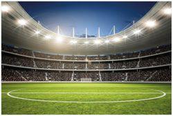 Vliestapete Fußballstadion Mittellinie – Bild 1