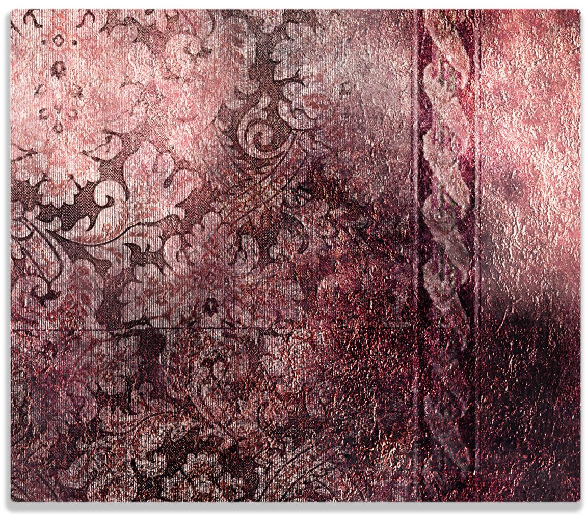 Herdabdeckplatte Schnörkelmuster in rot – Bild 1
