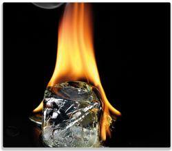 Herdabdeckplatte Brennender Eiswürfel – Bild 1