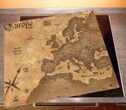 Herdabdeckplatte Alte Weltkarte   Karte von Europa in englisch – Bild 2