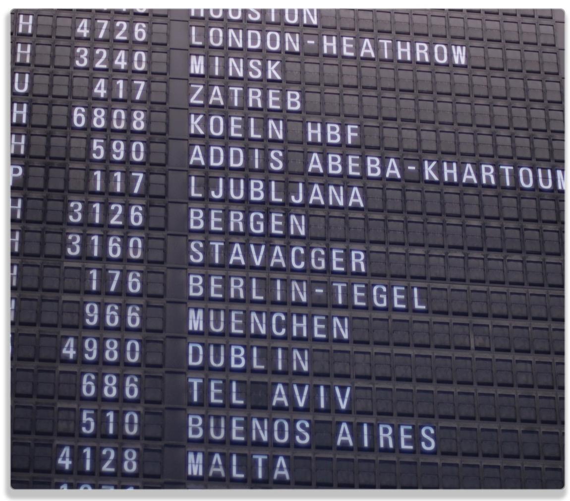 Herdabdeckplatte Flughafen Abflugtafel – Bild 1