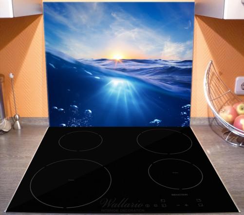 Herdabdeckplatte Wellen im Meer bei Sonnenuntergang – Bild 3