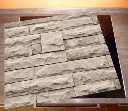 Herdabdeckplatte Steinwand grau-braun – Bild 2