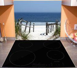 Herdabdeckplatte Blick auf Strand – Bild 3