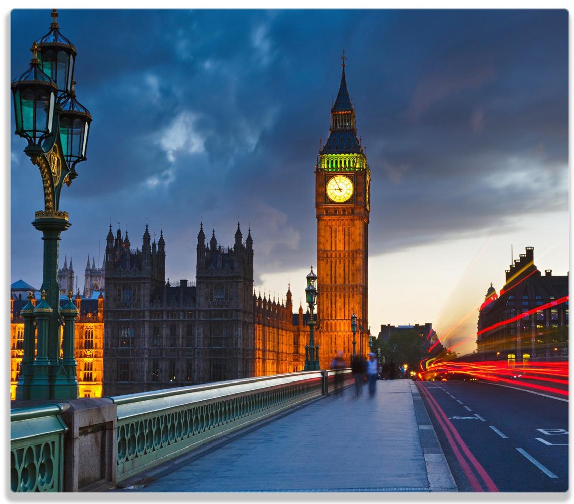 Herdabdeckplatte London- Big Ben bei Nacht – Bild 1