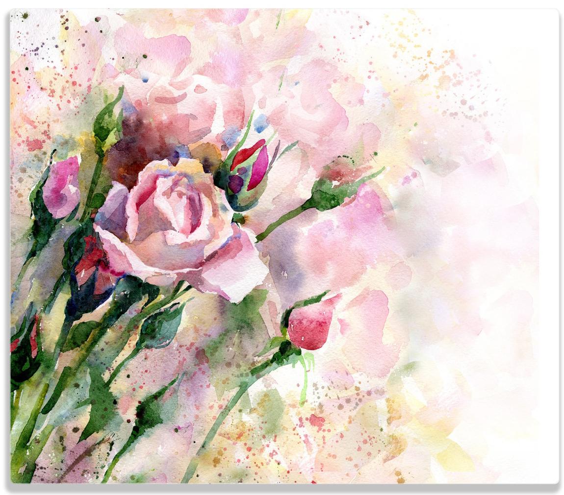 Herdabdeckplatte Abstraktes Blumenbuket – Bild 1
