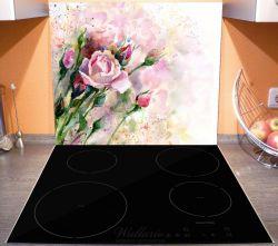 Herdabdeckplatte Abstraktes Blumenbuket – Bild 3