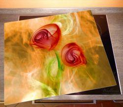 Herdabdeckplatte Abstrakte Rosen – Bild 2