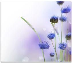 Herdabdeckplatte Abstrakte lila Blume – Bild 1
