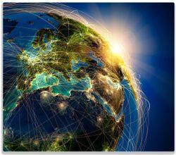 Herdabdeckplatte Erde im Weltall im Sonnenschein – Bild 1