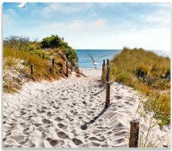 Herdabdeckplatte Möwen auf dem Weg zum Strand – Bild 1