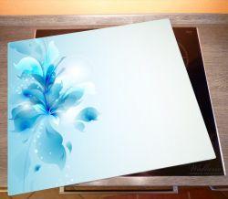 Herdabdeckplatte Blaues Blumenbuket – Bild 2