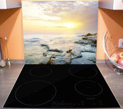 Herdabdeckplatte Sonnenuntergang über dem Meer – Bild 3