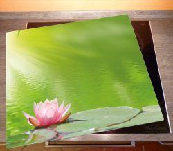 Herdabdeckplatte Seerose auf dem Wasser – Bild 2