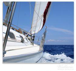 Herdabdeckplatte Segelboot on Tour – Bild 1