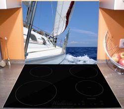Herdabdeckplatte Segelboot on Tour – Bild 3