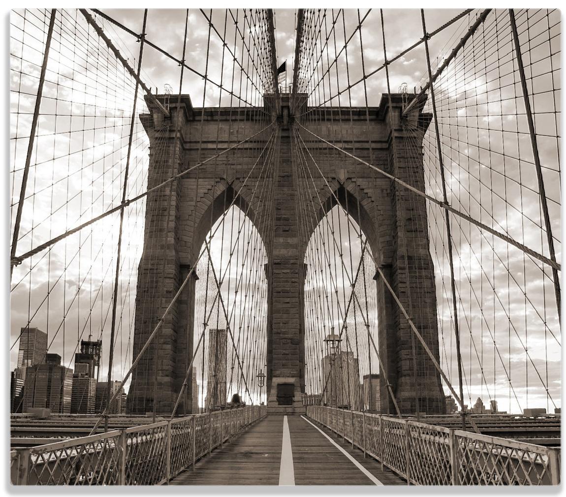 Herdabdeckplatte Brooklyn Bridge in New York – Bild 1