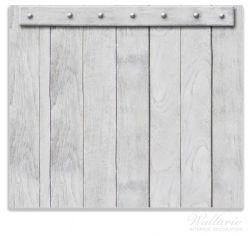 Herdabdeckplatte Graue Holztür – Bild 1