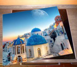 Herdabdeckplatte Urlaub auf Santorini – Bild 2