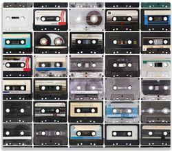 Herdabdeckplatte Retro Kassetten – Bild 1