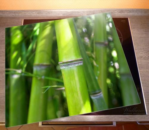 Herdabdeckplatte Bambus im Sonnenschein – Bild 2