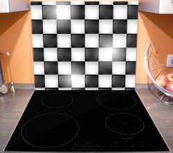 Herdabdeckplatte Schachbrett Muster – Bild 3