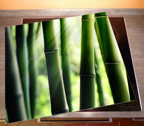 Herdabdeckplatte Bambuswald und Sonnenstrahlen – Bild 2