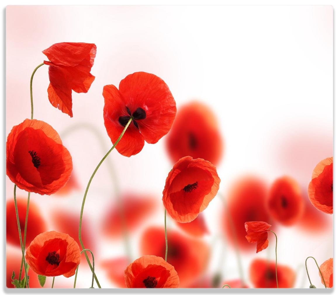 Herdabdeckplatte Leuchtende Mohnblumen - Rote Mohnblumenblüten – Bild 1