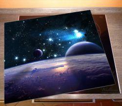 Herdabdeckplatte Planeten im Weltall – Bild 2