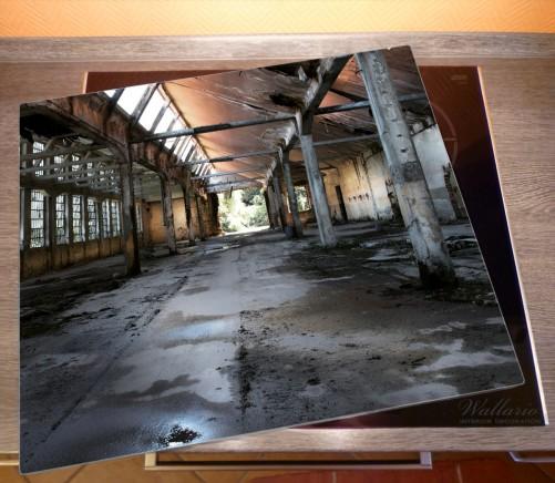 Herdabdeckplatte Alte Industriehalle  leerstehend und einsam – Bild 2