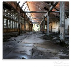 Herdabdeckplatte Alte Industriehalle, leerstehend und einsam – Bild 1