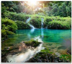 Herdabdeckplatte Türkisgrüner See im Nationalpark in Guatemala – Bild 1