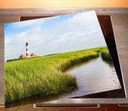 Herdabdeckplatte Kleiner Bach durch Schilf auf dem Weg zum Leuchtturm – Bild 2